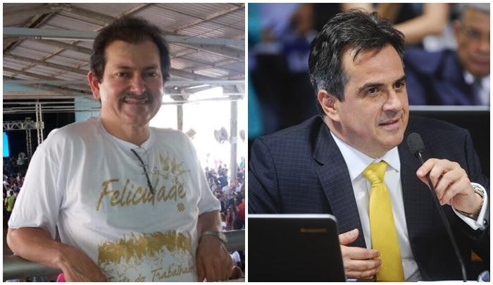 Dono do Comercial Carvalho, Reginaldo Carvalho, e o senador Ciro Nogueira (PP).
