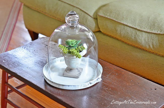 From My Front Porch To Yours-How I Found My Style Sundays-faux succulents | Cottage at the Crossroads