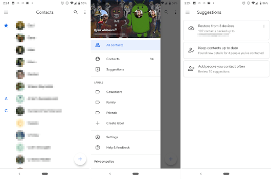 Google Contacts 3.0 : la toute nouvelle interface Material Theming est disponible - FrAndroid