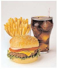 A typical fast food meal in the United States ...