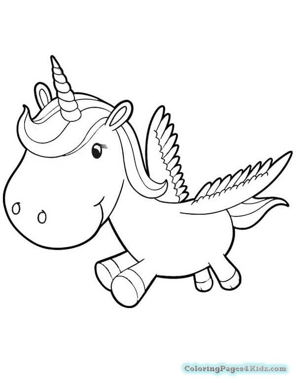 8600 Coloring Pages Cute Unicorn Images & Pictures In HD