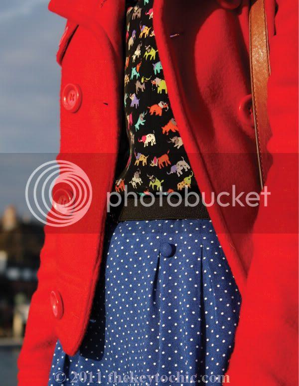 River Island elephant print top, H&M polka dot shorts