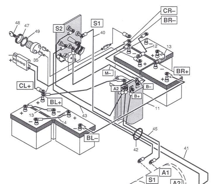 ezgo battery wiring diagram