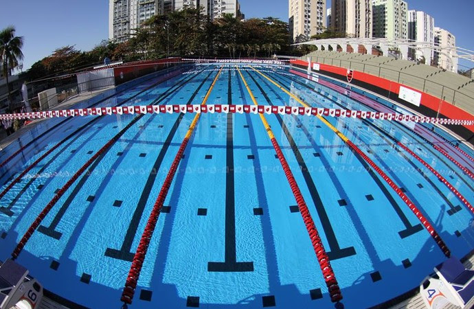Nova piscina olímpica do Flamengo foi inaugurada na Gávea (Foto: Divulgação/Flamengo)