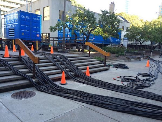 "Toronto Hydro on Twitter: ""And here's where the cables come in from generators on Elizabeth Street behind City Hall. """