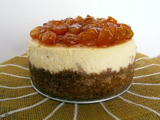 Candied Kumquat and Vanilla Bean Cheesecake