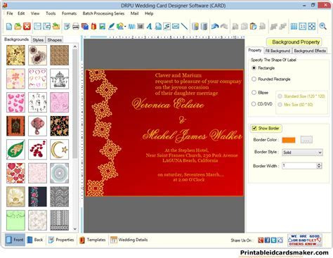 Wedding Cards Maker Software designs colorful marriage