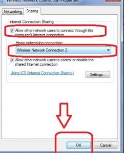 Internet sharing in wifi