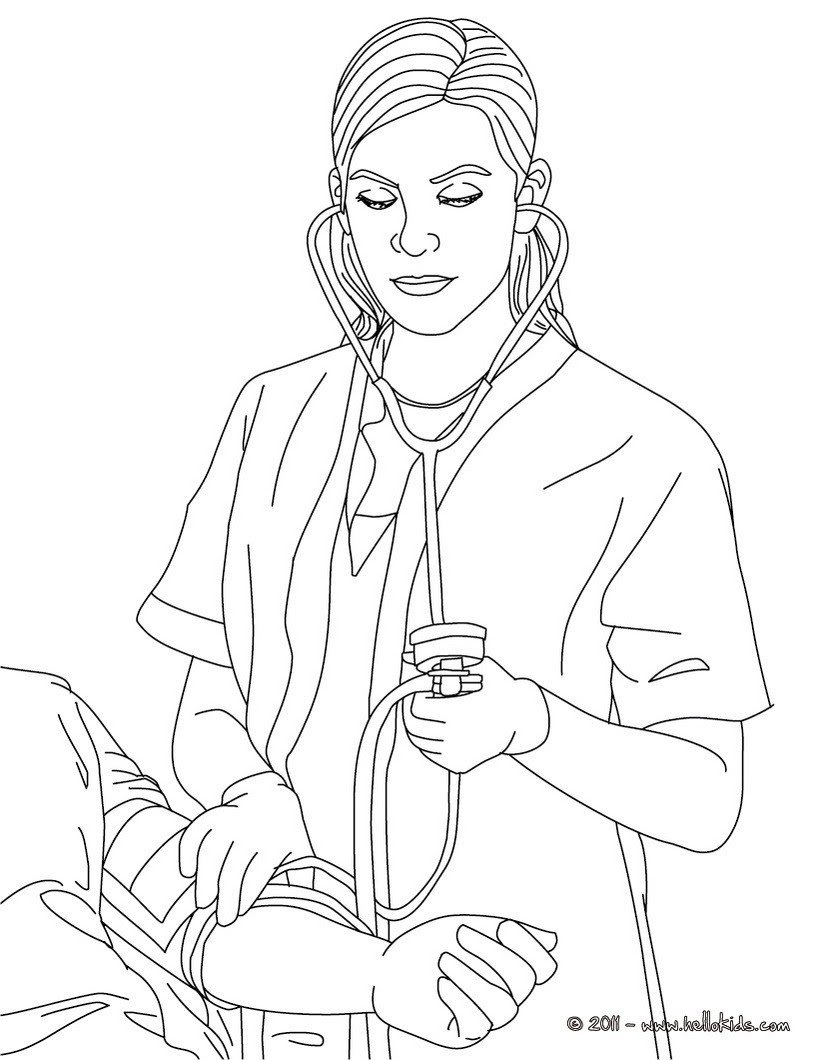 80 Coloring Pages Nurse Download Free Images