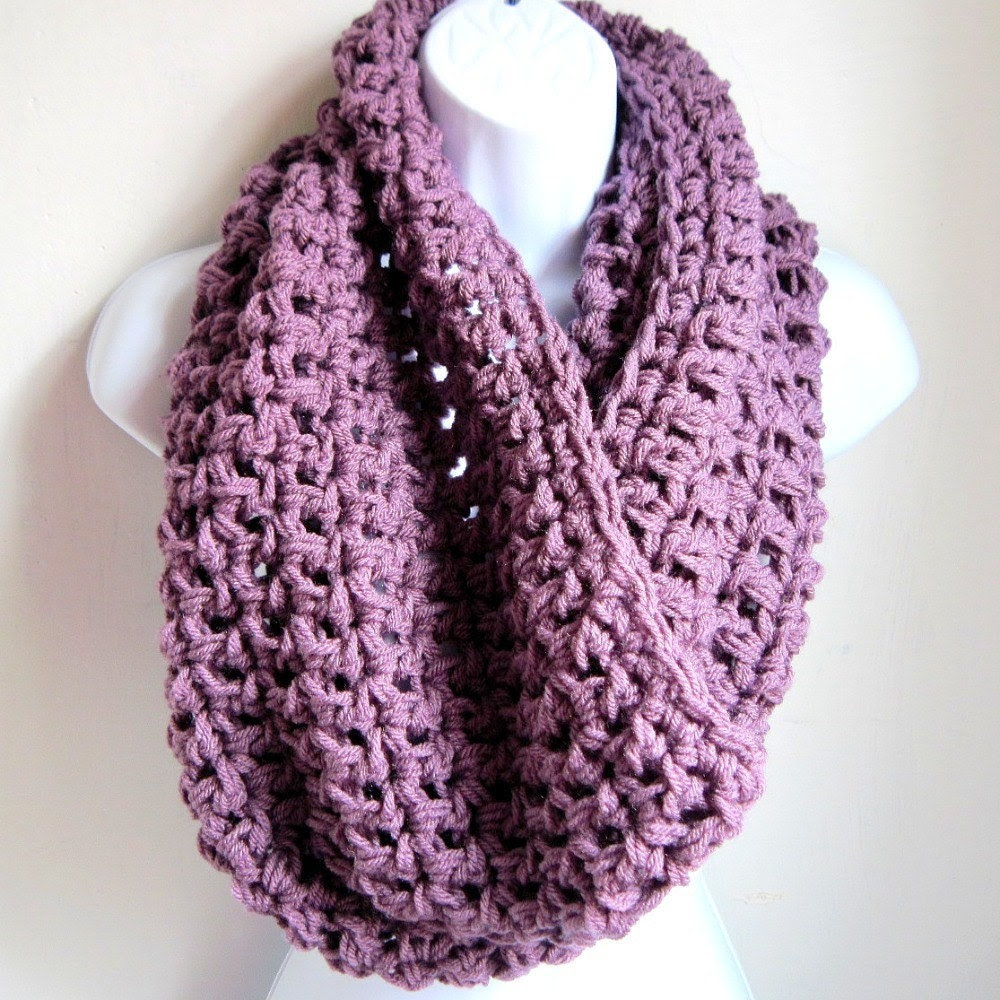 """Purple Extra Large Chunky Scarf """"Buy one get one 50% off lowest price"""" Dusty Purple Infinity Scarf,  Cowl"""
