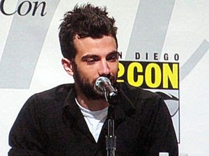 Actor Jay Baruchel participating in a panel on...