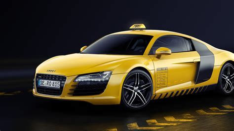 Audi R8 yellow cab