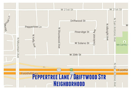 Upland, CA. Neighborhood Series: The Peppertree Ln./Driftwood St. Area