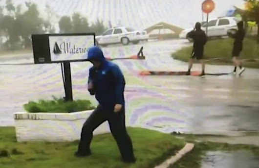 Weather Channel Defends Reporter Accused of Exaggerating Hurricane Winds - SFGate