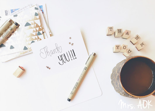 100th Thank You Notes!! {Snow day and the final TYN of 2016}