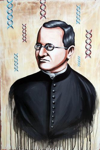 Portrait Gregor Johann Mendel (Father of Modern Genetics)