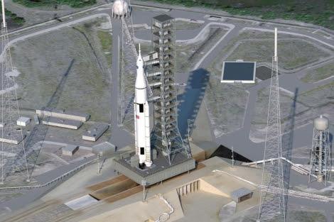 Recreación del nuevo cohete de la NASA.