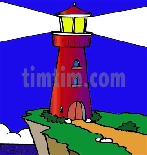 drawing  lighthouse   category boat sail