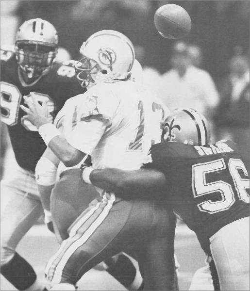 Down Goes Marino! Pat Swilling Sack! - New Orleans Saints History