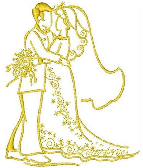 Wedding couple embroidery design   Embroidery   Pinterest