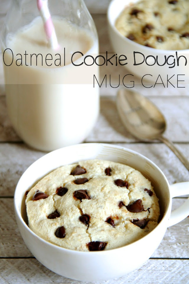 Oatmeal Cookie Dough Mug Cake | running with spoons