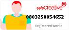 Safe Creative #0803250054652