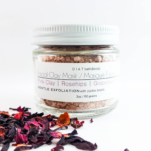 Facial Clay Mask with Pink Clay, Rosehip & Grapeseed Oil