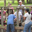 Students explore at Crystal River Archaeological State Park.