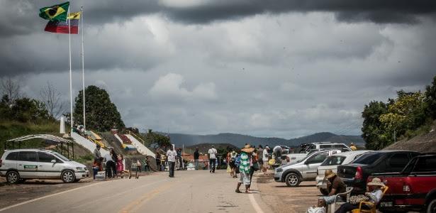 Resultado de imagem para fronteira brasil na pacaraima  Venezuela