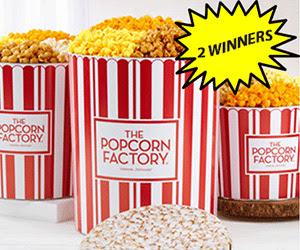 Popcorn Factory 3 1/2 Gallon 3 Flavor Popcorn Tin