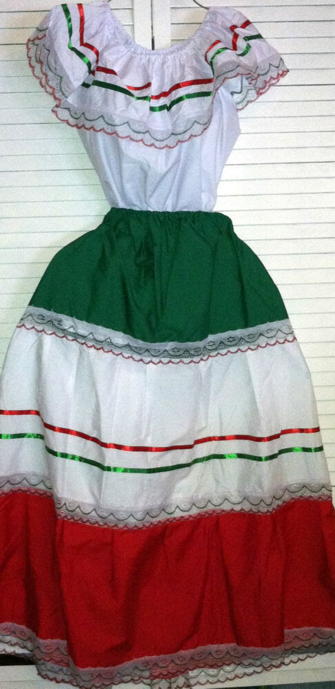 womens one size fits most top  skirt set mexican