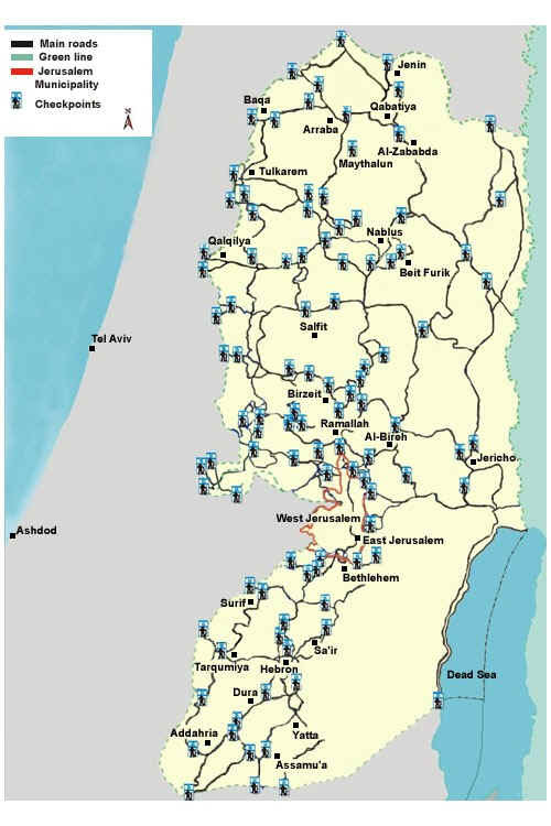 West bank checkpoints