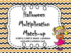 Halloween Multiplication Match-Up - free