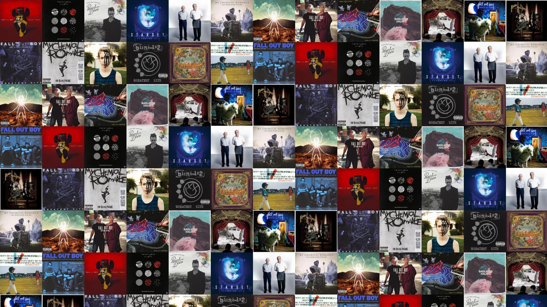 Fall Out Boy Folie Deux Twenty One Pilots Wallpaper Tiled