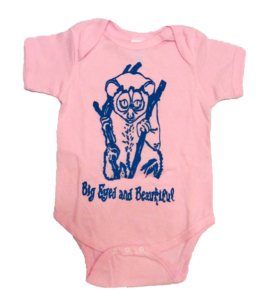 18 Month Baby Onesie - Cute Animal Print - Quirky Onesie Depicting Slow Loris