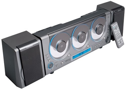 Emerson Ms3106 Wall Mountable 3 Cd R Rw Audio System With