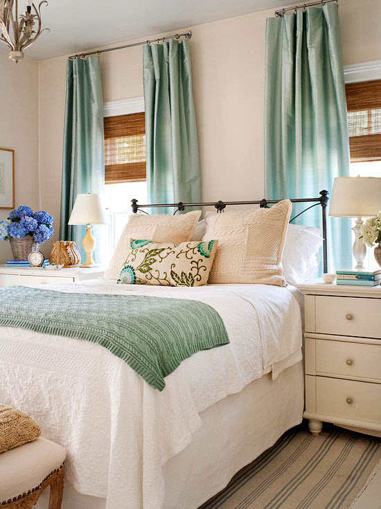 Soothing Bedroom Color Schemes - Setting for Four