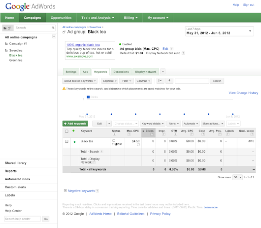 Check and understand Quality Score - AdWords Help