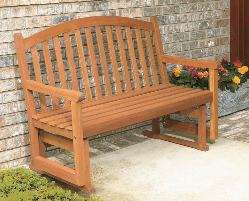 Eucalyptus Daydream 4ft Glider Bench - Hardwood Outdoor Furniture ...