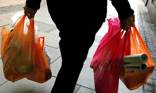 Plastic bag use down 70% in Wales since charges began