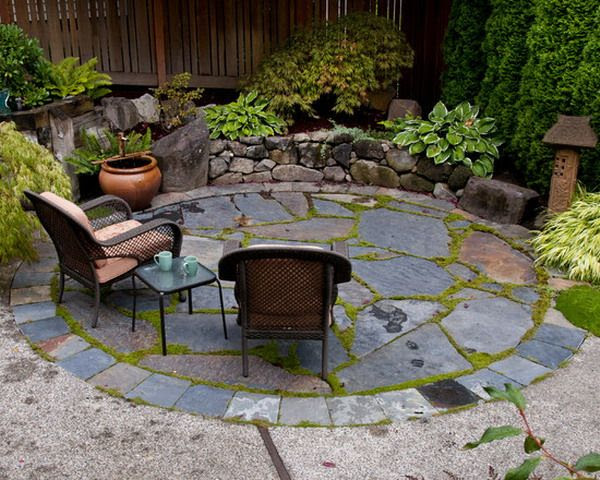 Small backyard stone patio designs