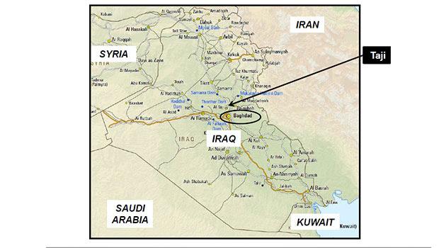 Iraq map. Photo / NZDF