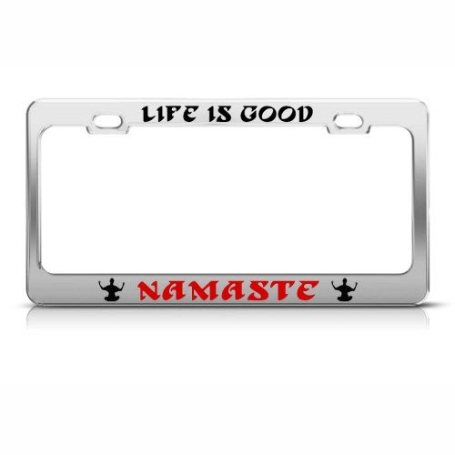 Where To Buy Itembrand Life Is Good Namaste Yoga License Plate