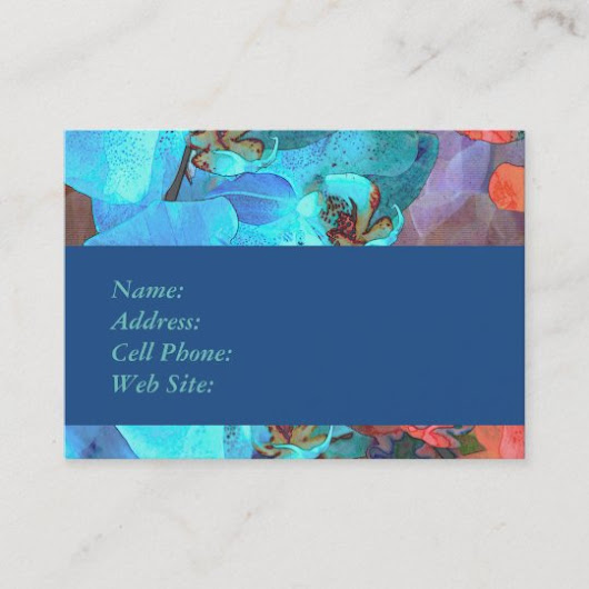 Complementary Blooms Gorgeous Color Business Card