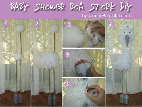 DIY 5-Foot Boa Stork for a Baby Shower