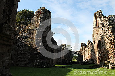 Historic Abbey Ruins With Sunlight And Shadows Stock Photo - Image: 67114058