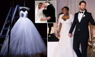 Serena Williams shares photo of wedding dress on Instagram