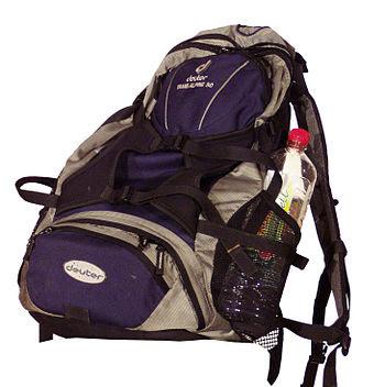 English: Outdoor backpack Deutsch: Outdoor-Ruc...