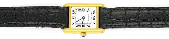 Foto 1, Cartier Tank Louis Cartier Damen 18K Gold Faltschliesse, U2067