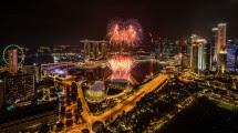 Menikmati Suasana Tahun Baru di Marina Bay, Singapura